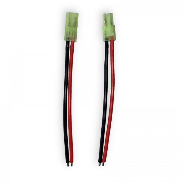 Mini-Tamiya-Set, Stecker und Buchse, mit je 10cm Kabel & verzinnten Lötenden