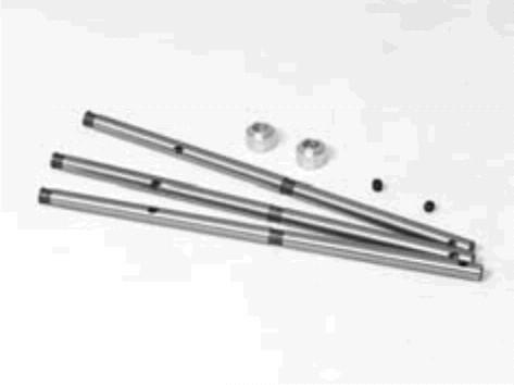 3 Stück Hauptwelle inkl. Schrauben - Originalteil E-Razor - ERZ0017 evtl. auch andere 450er Helis