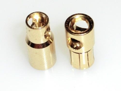 Goldkontaktstecker 6 mm 1 Paar M/W