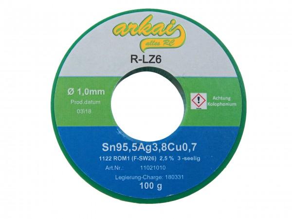 Silberlötzinn 1,0 mm - 100 Gramm - DIN9453