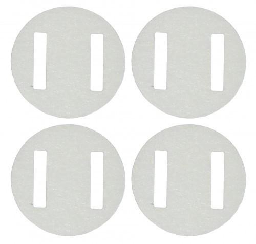 Ruderscharnier Vlies rund 20x0,3 mm, 10 Stück