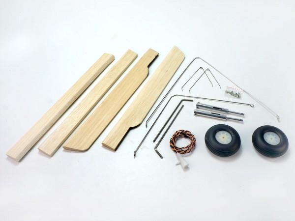 Fieseler Storch Upgrade Kit, Fahrwerk, Navigationslichter, Holzquerruder