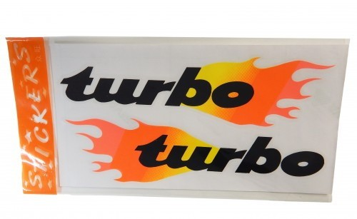 Aufkleber / Decal TURBO Flames 135*260mm 2 Stk.