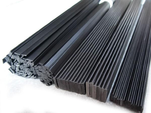 Carbonflachstab/Plate diverse Stärken, 200mm Lang, 5er-Pack