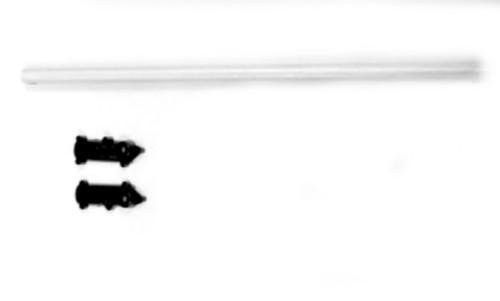 Alurohr & hintere Rotorblattaufnahme f. für ALLE Koaxhelis wie LAMA, Graupner, Revel, Reely, Blade &