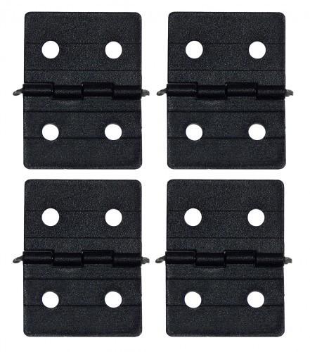 Ruderscharnier Nylon 27x36mm (4 St.) schwarz