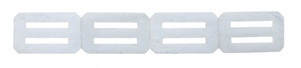 Ruderscharnier Vlies 27x17x0,3 mm (4 St.)