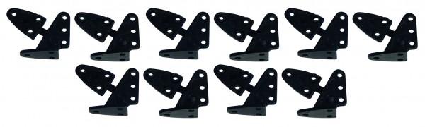 Ruderhorn-Set Schwarz 13,5 * 16 mm - 5 Paar