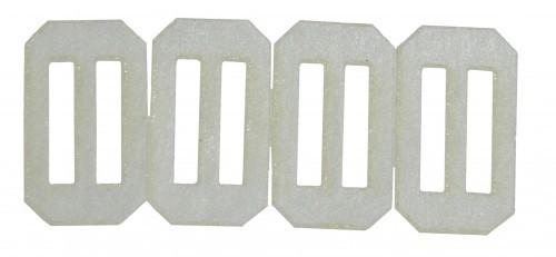 Ruderscharnier Vlies 17x10x0,3 mm, 10 Stück