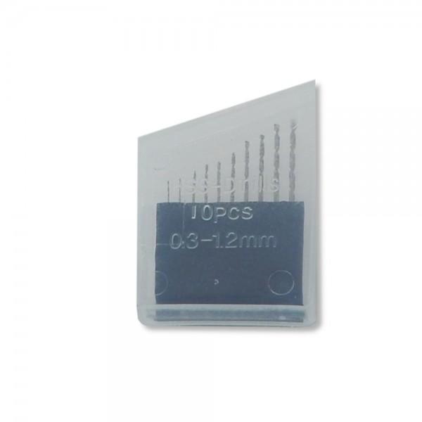 High Speed white Steel 10 Stk.Minibohrer v. 0,3 - 1,2 mm