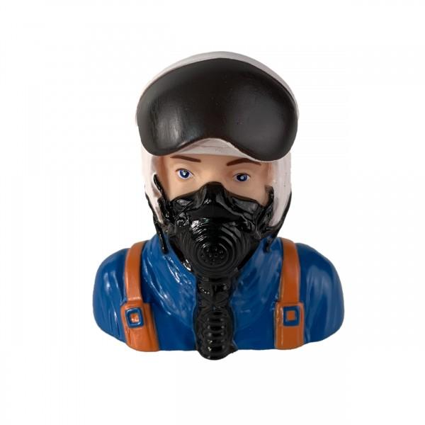 Pilotenpuppe, Jet-Pilot, 1:6 (75x46x76mm)