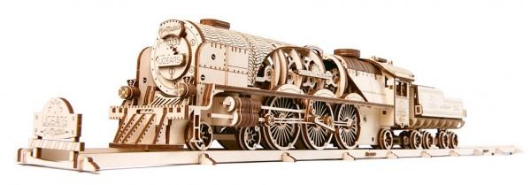 V-Express Dampflokomotive mit Tender mechanisch zum Stecken