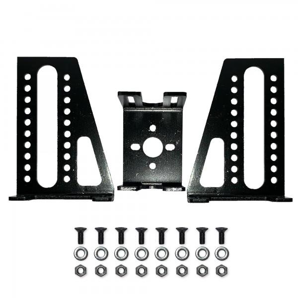 Motorhalter, Metall, schwarz, variabel einsetzbar