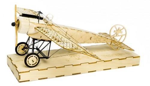 Fokker E, Micromodell, KIT in Holzbox