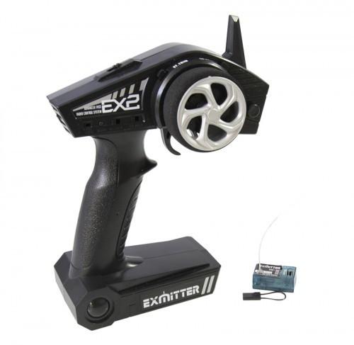 EX2 - 2.4 Ghz Fernbedienung Pistolengriff 2 Kanal