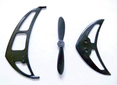 Rotor & Heckflossen hinten f. für ALLE Koaxhelis wie LAMA, Graupner, Revel, Reely, Blade & Co geeign