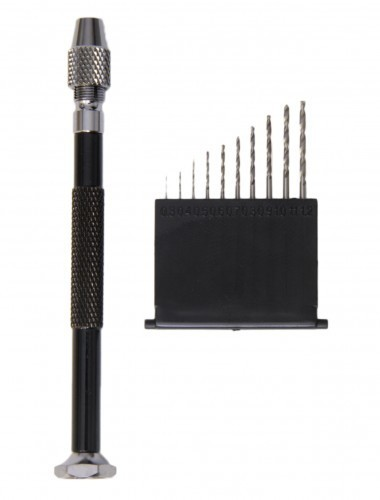 PROFI Minibohrer m 10 Bohrern v. 0,3 - 1,2 mm