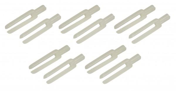 10 Stk. - Gabelkopf 1,2x29 mm Gewinde