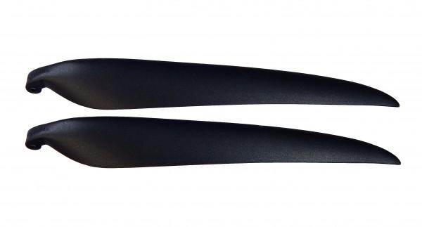 "Klapppropellerblätter 13,5x7"", Nylon, 8mm Blattwurzel"
