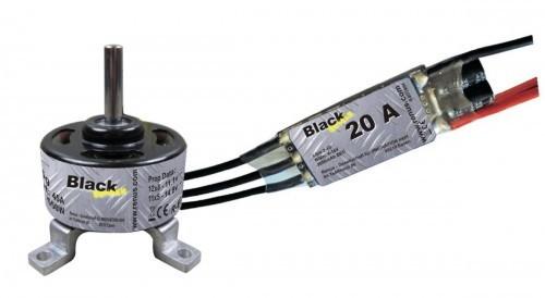Brushless Motorset 3007 und 20 A Regler