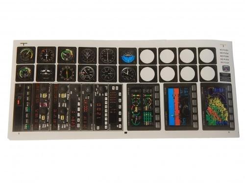 Aufkleber / Decal Instrumententafel Vers.B 90*200mm 43 Stk.