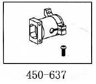 Heckgetriebegehäuse Geeignet für ALLE 450er wie T-Rex & Co