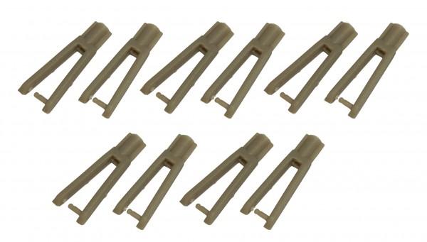 10 Stk. - Gabelkopf braun 2x29 mm