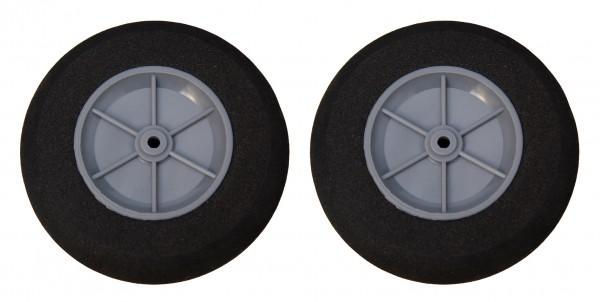 Reifen PU - graue Felge - 100x4x30 mm (2 Stk.)