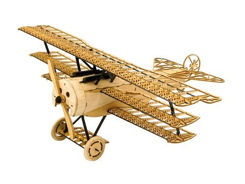 Fokker DR1, 360mm, Micromodell Balsa KIT in Holzbox