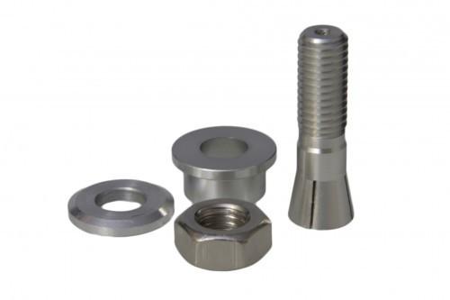 Aluminiumspinner mit Mitnehmer Klemmkonus 6 mm