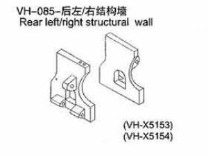 Rear structural wall FÜR ALLE 1:10er RC Cars