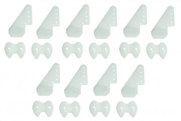 Ruderhorn-Set 20*27 mm - weiß 5 Paar