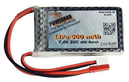 Gensace Lipo 900 mAh 7,4V, 20C-40C Max.