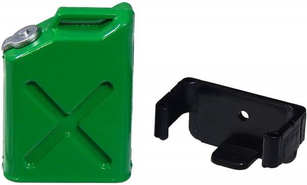 Benzinkanister Grün mit Halterung