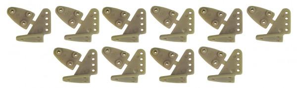 Ruderhorn-Set BRAUN 16.5 * 20 mm - 5 Paar