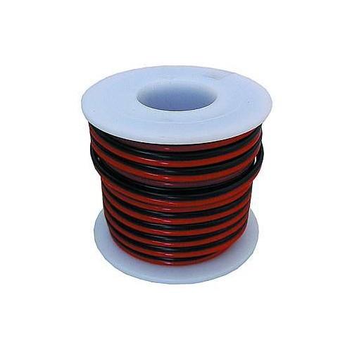 Kabel 2-adrig, 2 x 0,14 mm, 10 m, rot-schwarz
