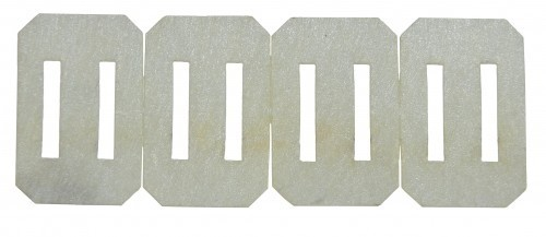 Ruderscharnier Vlies 20x13x0,3 mm, 10 Stück