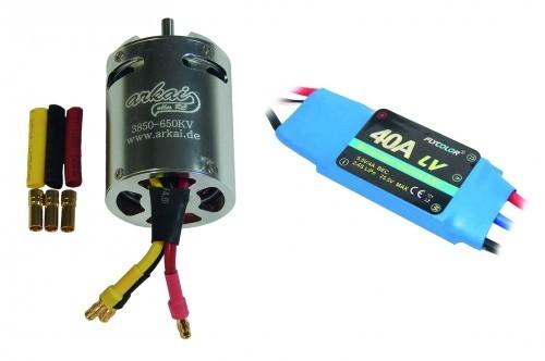 arkai BL-Motor D3850 und 40 A-Regler Flycolor