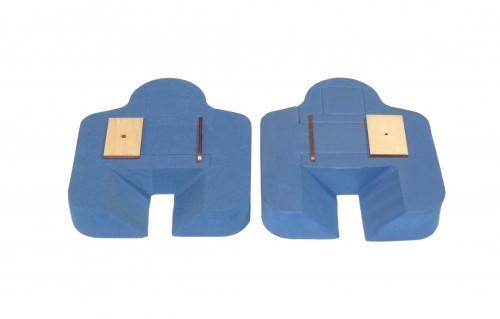 Tragflächenradhalter - blau 1 Paar