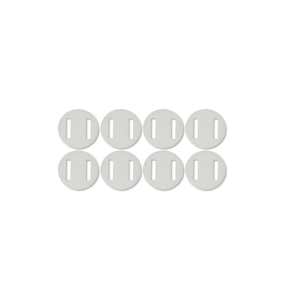 Ruderscharnier Vlies rund 20x0,3 mm, 8 Stück