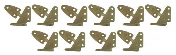 Ruderhorn-Set BRAUN 13,5 * 16 mm - 5 Paar
