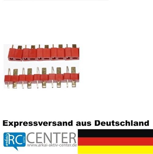 """T-Stecker - BESSERE weil """"geriffelte"""" Version 5 Paar (5 w + 5 m)"""