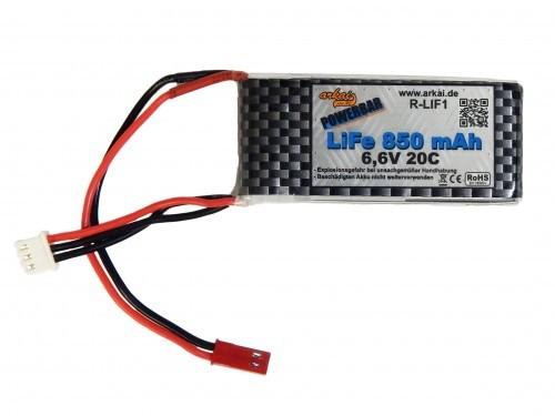 arkai LiFe 1 - 6,6 V 2S - 850 mAh - 20C