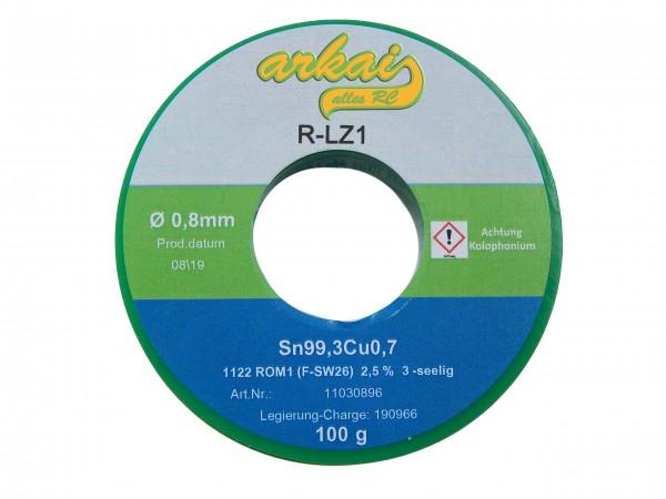 Lötzinn 0,8 mm - 100 Gramm - DIN9453