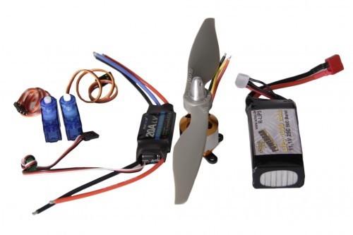 Motor-Servo Set für Modellflugzeuge bis 1200 g