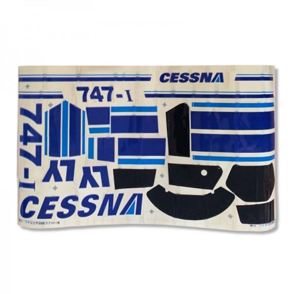 Aufkleber / Decals Blau für ALLE Cessnas bis 1200 mm Spw.
