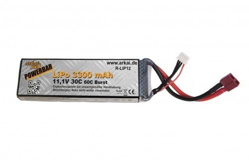Powerbar Lipo 3300 mAh 11,1V 30 C - 60 C Burst
