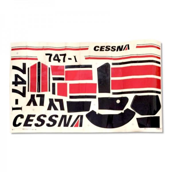Aufkleber / Decals Rot für ALLE Cessnas bis 1200 mm Spw.