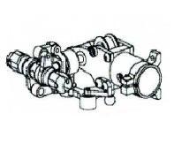 Heckgetriebe-Einheit Alu Silber Geeignet für ALLE 450er wie T-Rex & Co