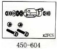 Blatthalter Hauptrotor Geeignet für ALLE 450er wie T-Rex & Co